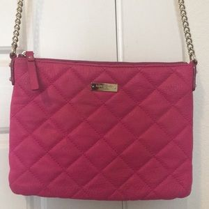 Kate Spade Quilted Pink Crossbody Bag